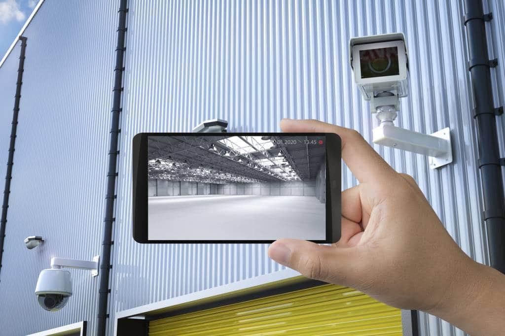 système de videosurveillance pour un entrepôt