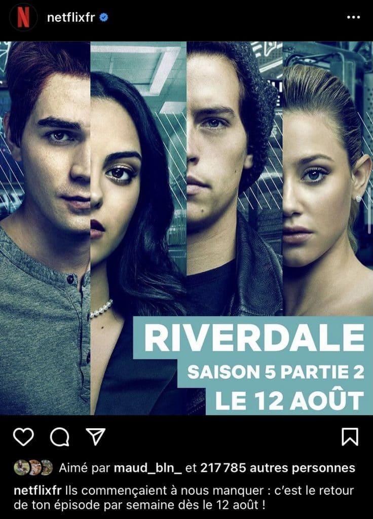 """""""Riverdale"""" : la date de la seconde partie dévoilée"""
