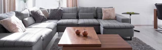 canapé d'angle panoramique décoration