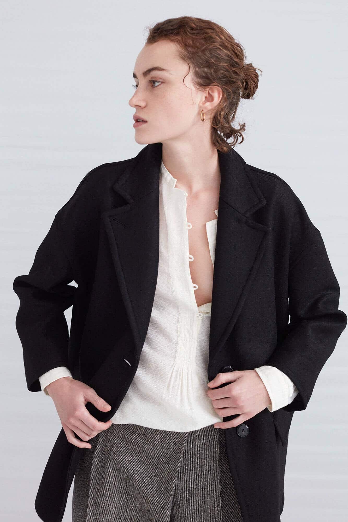 manteau navy bohème chic